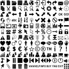 Web Icons Black on White stock illustration Illustration of
