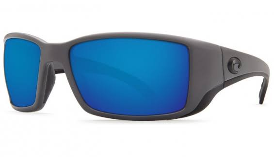 Costa Del Mar Grey 580P Rectangular Sunglasses