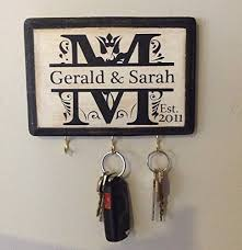 Personalized Wedding Gift Monogram Key Holder Awesome For Engagement Bridal Shower