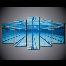5 Piece Swimming Pool Underwater Canvas Wall Art Paintings