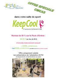 partenariat et tarifs négociés avec la salle de sport keep cool