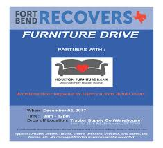 Fort Bend Recovers Furniture Drive with Houston Furniture Bank