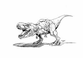 Download Coloring Pages Jurassic Park Chuckbutt Drawing