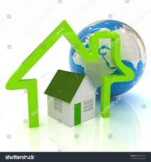 100 House Earth 3d Green House Earth And Icon House On White Background EZ Canvas