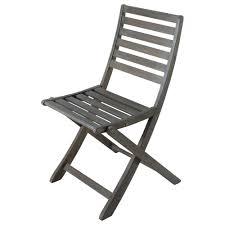 chaise de pliante chaise pliante de jardin en acacia grisée maisons du monde