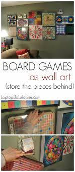 Hang Your Collection Of Board Games On The Tutorial Turn Into Wall Art