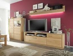 details zu wohnwand eiche bianco teilmassiv 3 teilig medienwand tv wand wohnzimmer senta 25