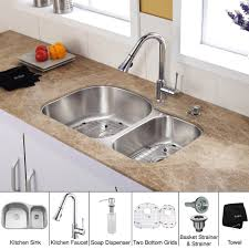 Pfister Pasadena Kitchen Faucet by Brass Kitchen Faucet With Soap Dispenser Wide Spread Single Handle