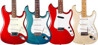 63 Stratocaster In Candy Apple Red 64 Strat Foam Green