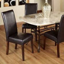 Kemper Espresso Faux Leather Dining Chair Pair