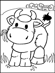 Cow Color Page Animal Coloring Pages Plate Sheetprintable Picture