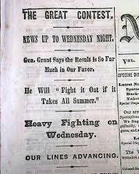 Ulysses S Grant QUOTE 1864 Civil War Newspaper Image078