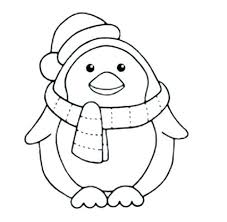 Winter Coloring Pages Printable Picture Page Sheets For Kids Penguin Who Colouring Pictures Toddlers Season