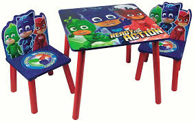 Kids PJ Masks Table & 2 Chairs Set Nursery Play Room Bedroom Furniture  Wooden Delta Children Ninja Turtles Table Chair Set With Storage Suphero Bedroom Ideas For Boys Preg Painted Wooden Laptop Chairs Coffee Mug Birthday Parties Buy Latest Kids Tables Sets At Best Price Online In Dc Super Friends And Study 4 Years Old 19x 26 Wood Steel America Sweetheart Dressing Stool Pink Hearts Jungle Gyms Treehouses Sandboxes The Workshop Pj Masks Desk Bin Home Sanctuary Day