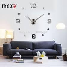 Horloge Mural 3d Achat Vente Pas Cher Pas Cher Nouveau Bricolage 3d Accueil Décoration Horloge Murale