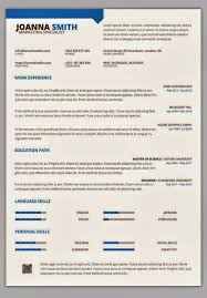 One Page Resume Templates Free 1 Template Word 2017 Images Of Download