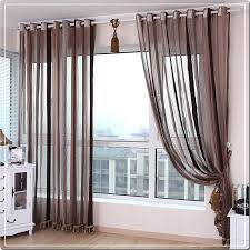 chenille curtains voile modern simple vertical striped window