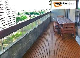Balcony Flooring Waterproof With Plastic Base Parquet Easy To