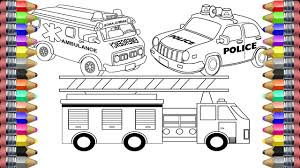 Beautiful Ambulance Coloring Pages 74 With Additional Print To ...