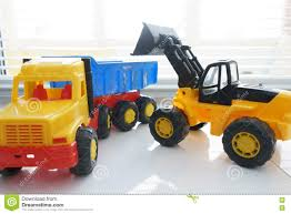 Toy Wheel Loader And Toy Dump Truck Stock Image - Image Of Equipment ...