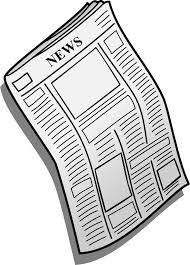 Svg Freeuse Library Blank Newspaper Clipart Medium Image Png