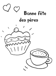 ausmalbild vatertag kuchen und kaffee zum vatertag