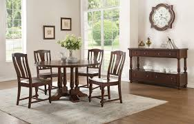 Tanner 5Pc Dining Set 60835 In Cherry Wood By Acme W Options
