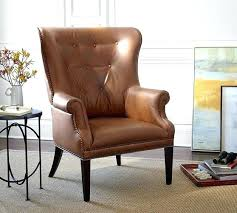 Pottery Barn Leather Chairs Leather Armchair Pottery Barn Tufted