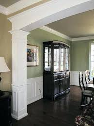 Dining Room Molding With Custom Archway Chair Rail And