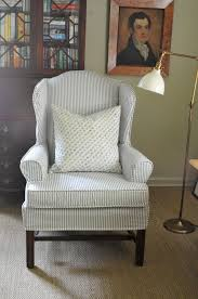 I Recently Had A Blue Ticking Slipcover Made For The Wingback Chair ... Refreshing Easy Diy Striped Chair Slipcover That Exude Luxury Amazoncom Harmony Slipcovers Rose Stripe Wingback Fits S Wingback Grey Themaspring Striped Wingback Chair Dentprofessionalinfo Stretch Pinstripe One Piece Wing Tcushion Slipcovers Uk Avalonmasterpro White Tikami Fniture Excellent Covers For Elegant Interior Back Cover Denim Double Diamond Sure Fit Wingchair