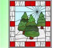 Christmas Easy Stained Glass Trees