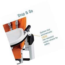 Peg Perego High Chair Siesta by Peg Perego Siesta Leatherette High Chair Palette Grey Ebay
