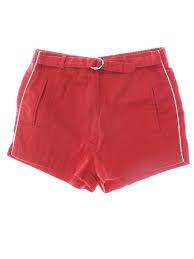 eighties sweats bi chego shorts 80s sweats bi chego womens red