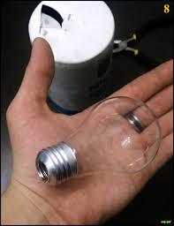 Light Bulb Light Bulb Meth Pipe Carefully Break Out The Inner