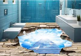 Custom 3d Floor Murals Beautiful Sky Painting For Living Room Bedroom Pvc Flooring Waterproof Animation Wallpaper Art From Yeyueman