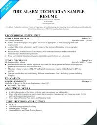 Manufacturing Technician Resume Engineering Sample Fire Alarm Industrial
