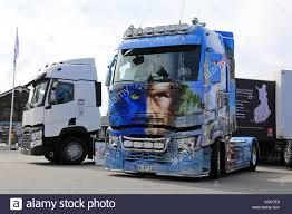 ALAHARMA, FINLAND - AUGUST 7, 2015: The German Renault Trucks T480 ...