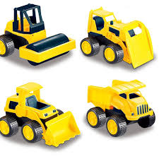 100 Construction Trucks Road Repair Vehicles Set Of 4 Include A Dump Truck Front Wheel Tractor Asphalt Paver And Bulldozer