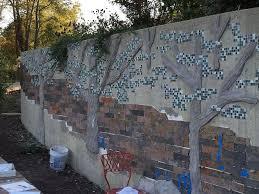 building a mosaic tile retaining wall hometalk