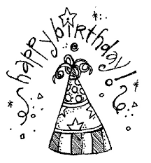 Birthday black and white clip art black and white birthday party clipart