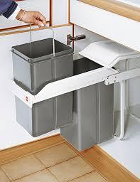 einbau abfalleimer multi box 2x15 liter grau weiß