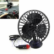 12V Car Electric Mini Fan 360 Rotating Strong Wind Car Fan Car Air ...