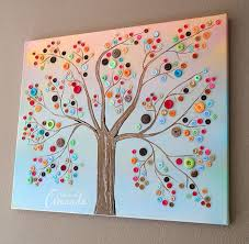 This Button Tree Tutorial Shows You Step By How To Turn An Ordinary Canvas Into Colorful Wall Art