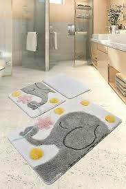 badezimmer 3er set badteppich badgarnitur badematten