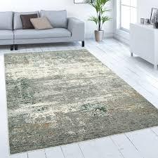 teppich wohnzimmer kurzflor vintage abstraktes muster beton optik grau creme