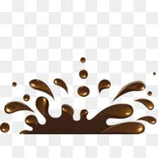 Chocolate splash Chocolate Materialized Realism PNG Image