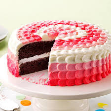 ChocolateRaspberry Polka Dot Cake