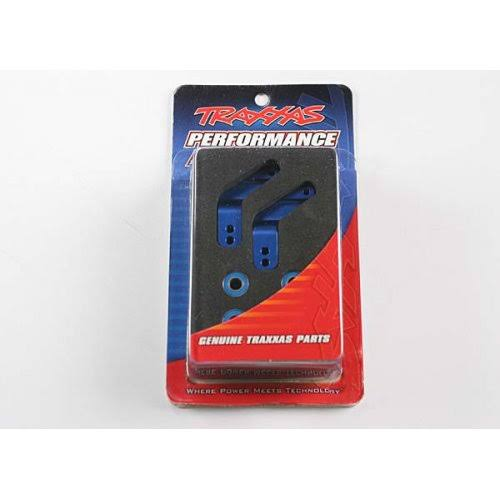 Traxxas 3652A Aluminum Rear Stub Axle Housing - Blue Rustler