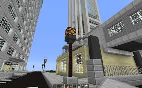 Minecraft Redstone Glowstone Lamp street light with hopper minecraft