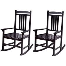 Casart Set Of 2 Wood Rocking Chair Outdoor Indoor Patio Porch Rocker For  Porch, Patio, Living Room, Black Durogreen Classic Rocker Black 3piece Plastic Outdoor Chat Set Presidential Recycled Wood Patio Rocking Chair By Polywood Shop Intertional Concepts Slat Seat Palm Harbor Wicker Grey At Home Trex Fniture Yacht Club Charcoal Americana Style Windsor Jefferson Woven With Tigerwood Weave Colby Cophagen Cushioned Rattan Armchair Glider Lounge Cushion Selections Chairs At Lowescom
